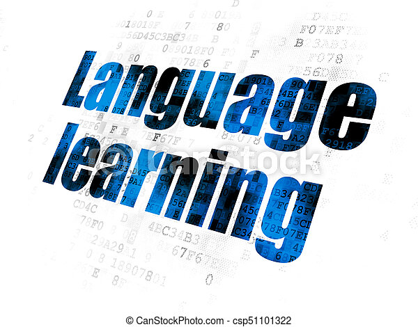 Education concept: Language Learning on Digital background - csp51101322