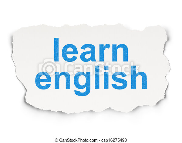Education concept: Learn English on Paper background - csp16275490