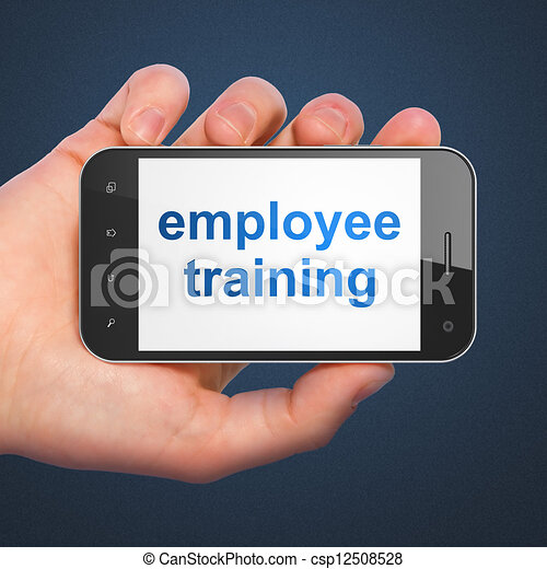 Education concept: smartphone with Employee Training - csp12508528