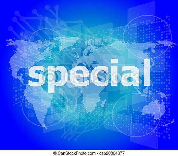 Education concept: Special word on digital background - csp20804377