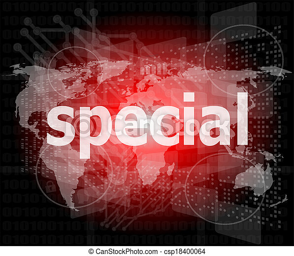 Education concept: Special word on digital background - csp18400064