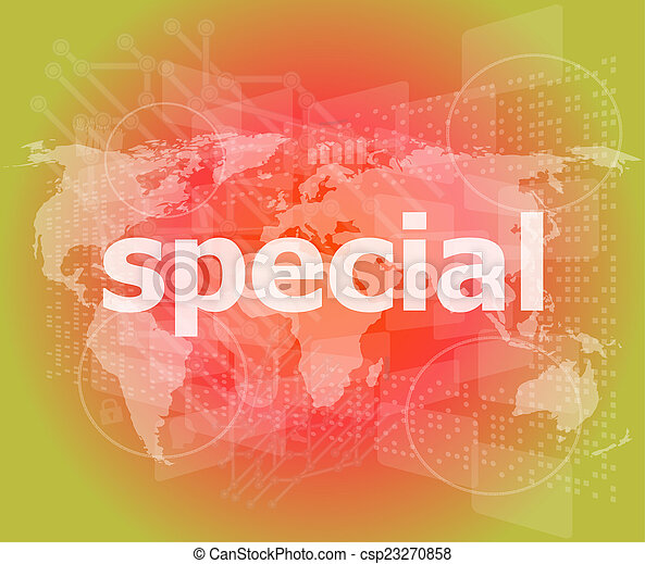 Education concept: Special word on digital background - csp23270858