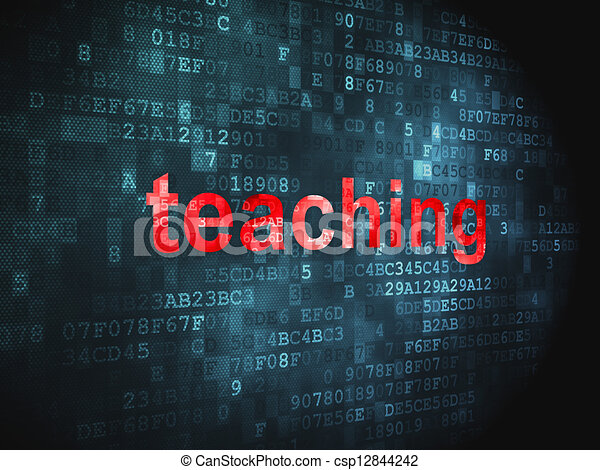 Education concept: Teaching on digital background - csp12844242