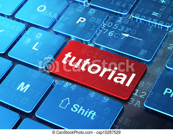 Education concept: Tutorial on computer keyboard background - csp15287529