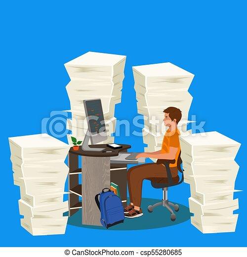 education concept, vector illustration - csp55280685