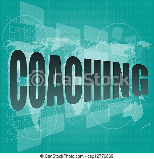 Education concept: words Coaching on digital background - csp12776869