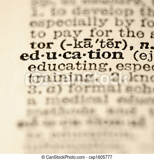Education dictionary entry. - csp1605777