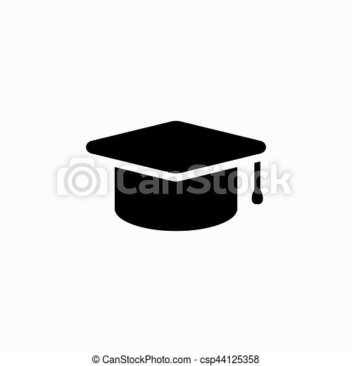 Graduation Cap Vector Illustration Academy Hat Icon Eps Vector