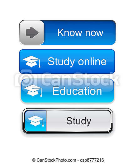 Education high-detailed modern buttons. - csp8777216