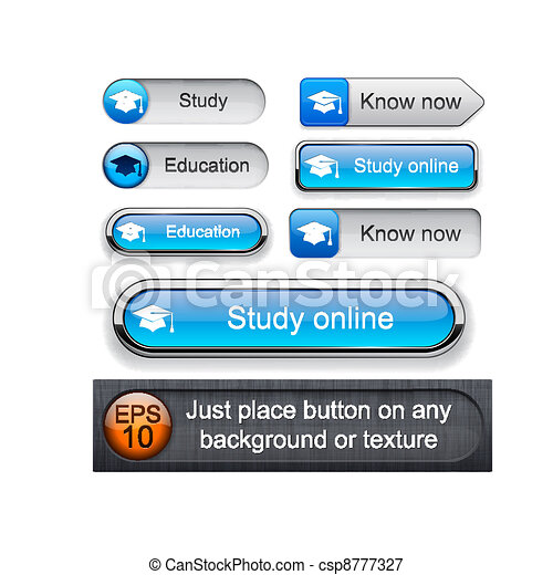 Education high-detailed modern buttons. - csp8777327