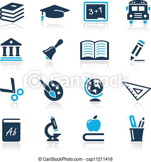 Education Icons  // Azure Series - csp11211416