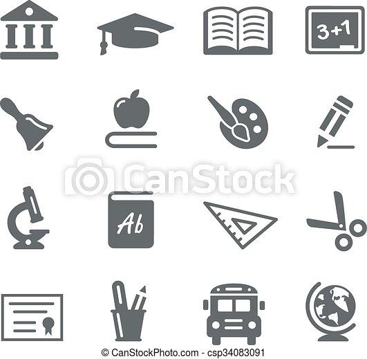 Education Icons - csp34083091