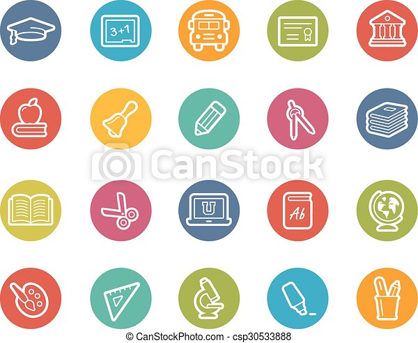 Education Icons - csp30533888