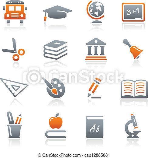 Education Icons // Graphite Series - csp12885081