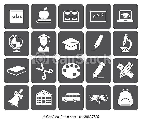 Education icons - csp39837725