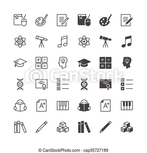 Education icons, included normal and enable state. - csp35727189