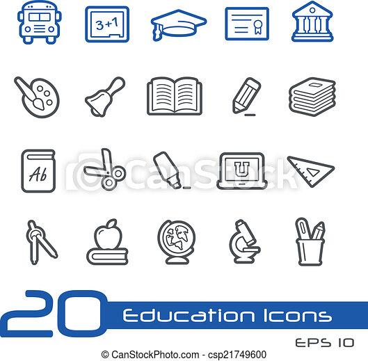 Education Icons // Line Series - csp21749600