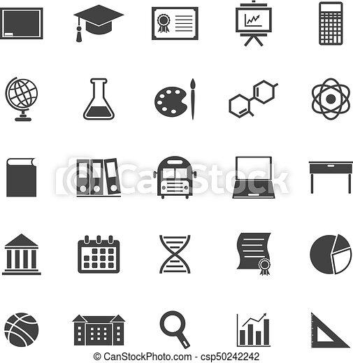 Education icons on white background - csp50242242
