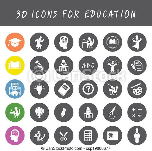 education icons set - csp19880677