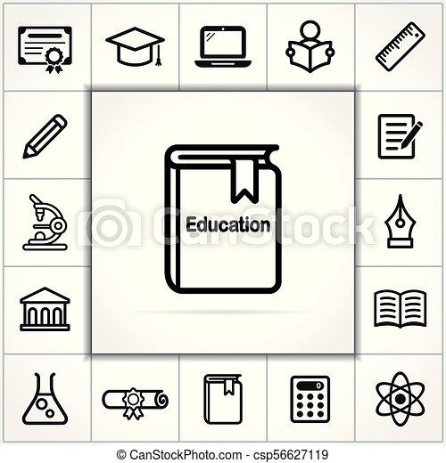 education icons set on white background - csp56627119