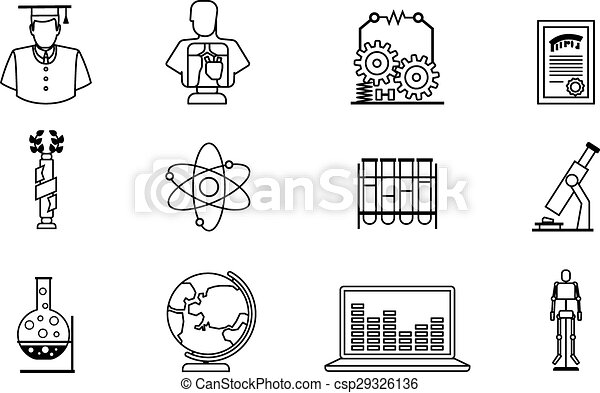 Education line icons education thin line vector icons graduate and education line icons csp29326136 ccuart Images
