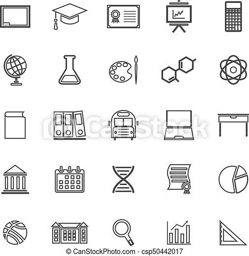 Education line icons on white background - csp50442017
