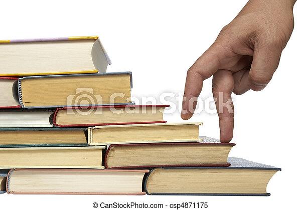 education, livres, pile - csp4871175