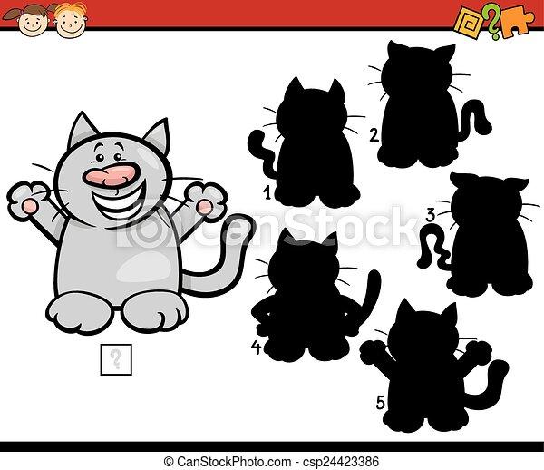 education shadows game cartoon - csp24423386