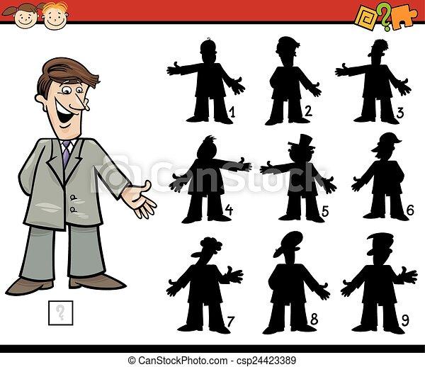 education shadows game cartoon - csp24423389