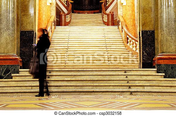 education stairs university - csp3032158