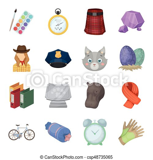 Education, taxi, animals and other web icon in cartoon style.Police, packing, rodeo icons in set collection. - csp48735065