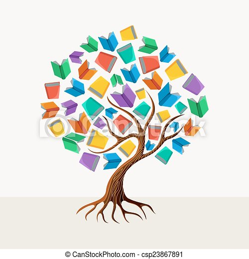 Education tree book concept illustration - csp23867891