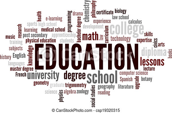 Education Word Cloud Bubble Tags Tree Detailed Vector - csp19320315