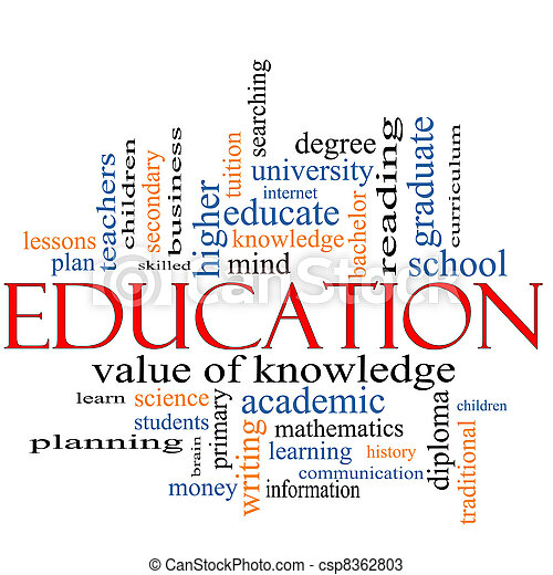Education Word Cloud Concept - csp8362803