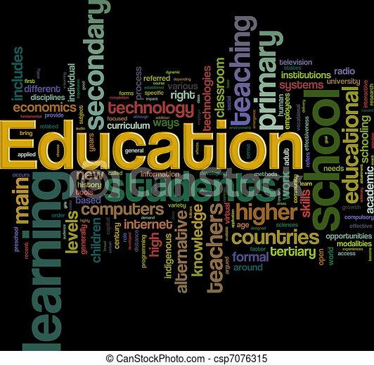 Education wordcloud - csp7076315