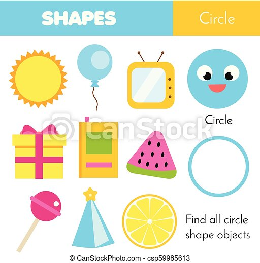 Educational children game  Learning geometric shapes  Circle