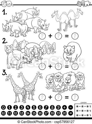 Añade libros educativos de colores con animales - csp57956127
