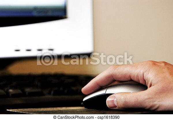 Hand-Maus-Computer - csp1618390