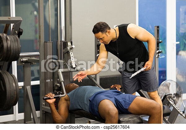 edző, személyes, tornaterem, afrikai, állóképesség, ember - csp25617604