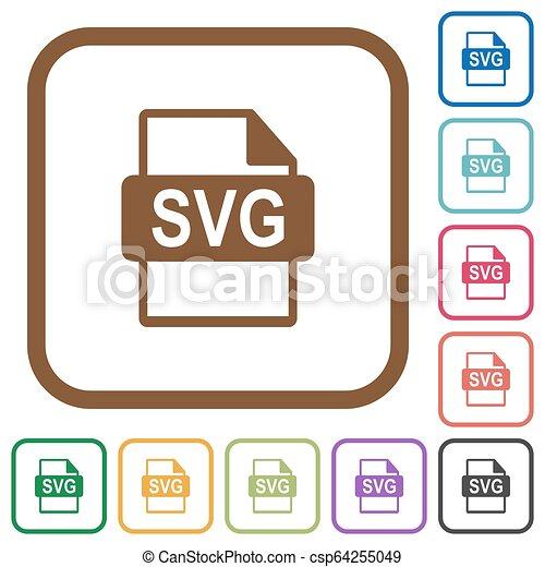 eenvoudig, svg, formaat, bestand, iconen - csp64255049