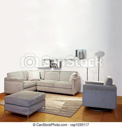 eenvoudig, woonkamer - csp1030117