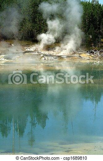 Eerie scenery in Yellowstone - csp1689810