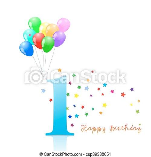 eerst verjaardag, jubileum, verzameling, tekens & borden - csp39338651