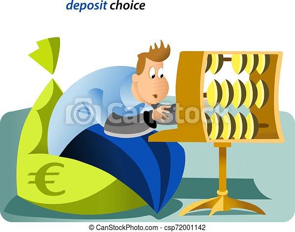 Ilustración de depósitos bancarios - csp72001142