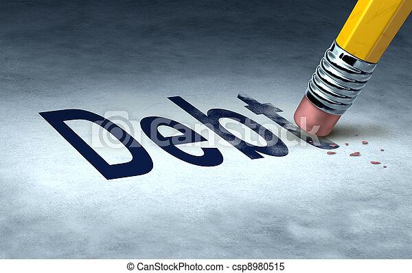 effacement, dette - csp8980515