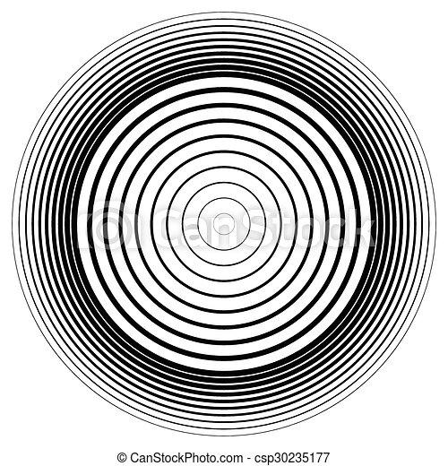 effect., abstratos, círculos, vector., ondulação, círculo, concêntrico, element. - csp30235177
