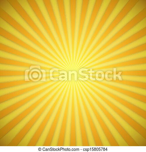 effect., jaune, clair, vecteur, fond, orange, ombre, sunburst - csp15805784