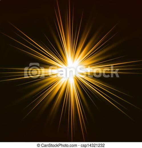 effect., licht, vector, geel flakkerend licht - csp14321232