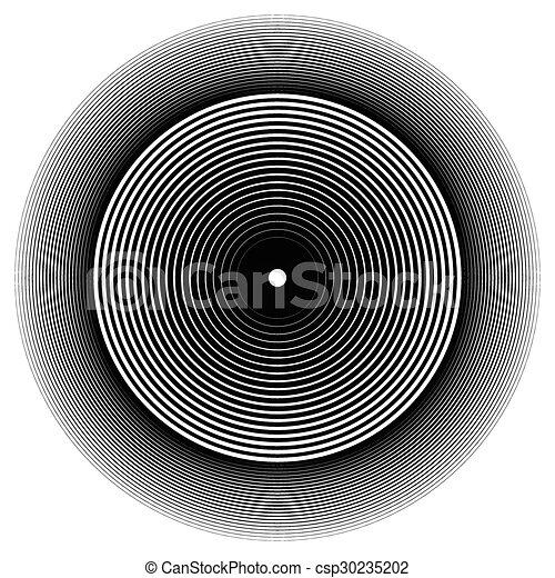 effect., resumen, círculos, vector., onda, círculo, concéntrico, element. - csp30235202