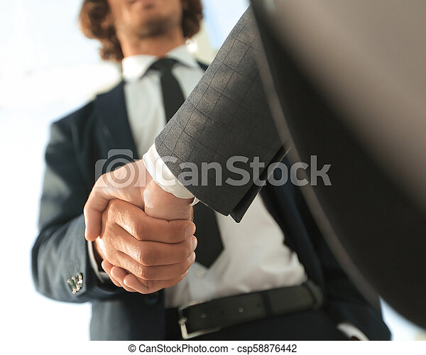 Effective negotiation with client. Business concept photo. - csp58876442